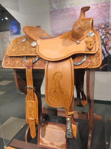 Super Bowl saddle - Super Bowl XLV! A tribute to the winning team,the Green Bay Packers! So awesome!