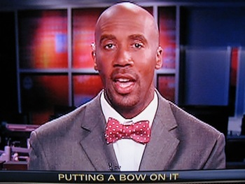 Bruce Bowen - Former NBA player now ESPN annalyst. He wears these ridiculous bow ties! They make him look like a clown! Yikes!