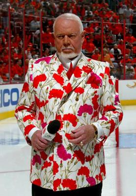 Don Cherry - Don Cherry is a NHL annalyst,mostly in Canada. He is known for his crazy suits like this one! I like his style! Cherry is one of a kind!