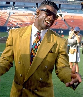 Deion Sanders - He has always been a show boat when it comes with fashion! He surely loves attention!