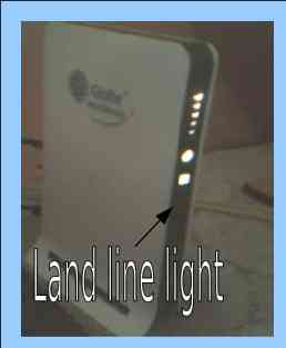 No Land line Light - that's why they should have replaced it.