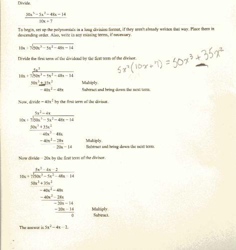 math problem - Does not follow what the steps say