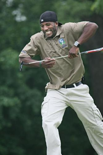 Jarret Bush - Jarret Bush reaction after missing a putt! Funny!