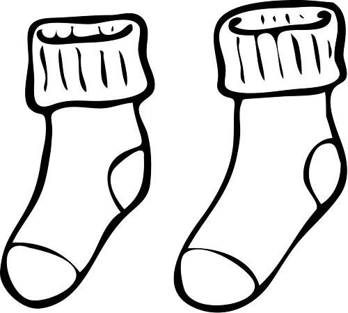white socks - drawed white socks