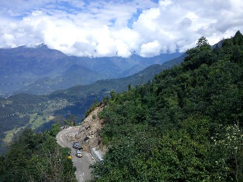On the way to Lachung : North Sikkim  - On the way to Lachung