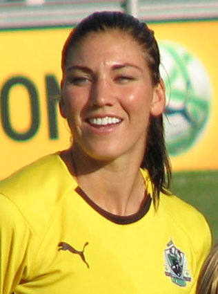 Hope Solo - The goalie for the woman's USA soccer team.