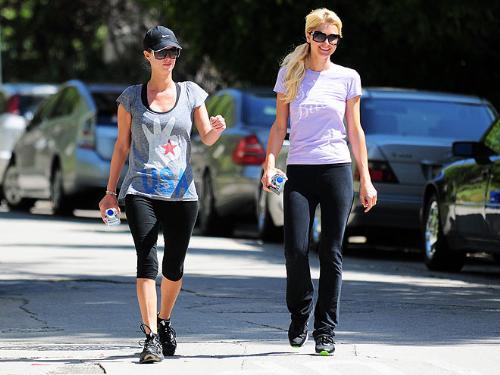 The Hilton sisters - Nikki Hilton and her sister Paris.
