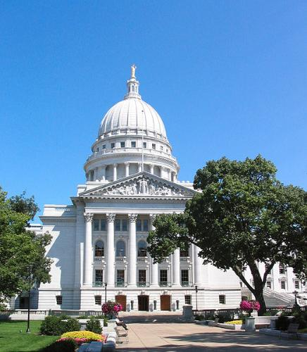 The Capital - The Wisconsin Capital building in Madison.