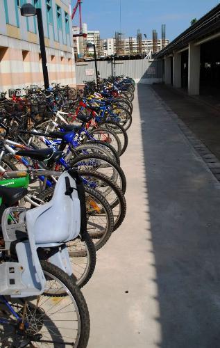 bikes - bikes on a parking lot