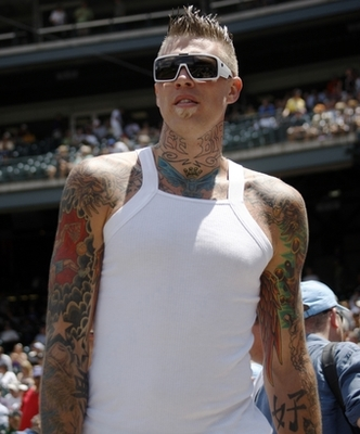 Chris Johnson - The most tattooed player in the NBA. His name is the 'Birdman'