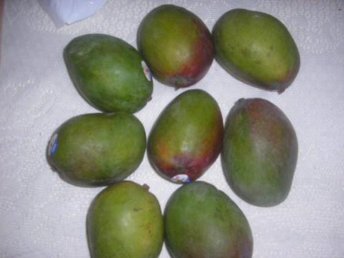 Juicy Mangoes - Green and half Ripe - Yummy. Love eating the green ones with pepper and salt