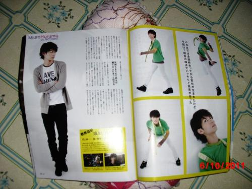 Haruma Miura - Haruma Miura featured in GYAO Magazine December 2008 issue