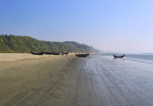 Cox's Bazar Sea Beach - The Cox's Bazar Sea Beach is the longest beach of the World. It is situated it the  South-East of Bangladesh. It is one of the best tourist spots of the world.