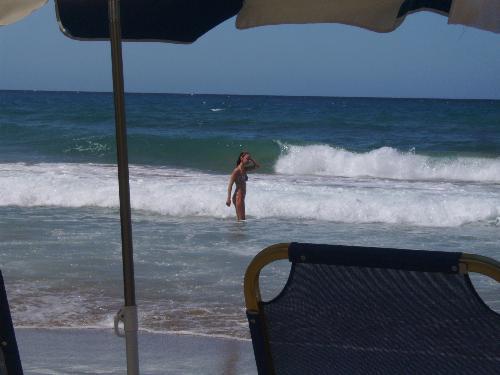 Girl enjoying the sea - Here is a sexy girl enjoying the Ionian Sea on Corfu Island.