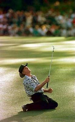Greg Norman - Norman choking at the 1996 Masters touramant.