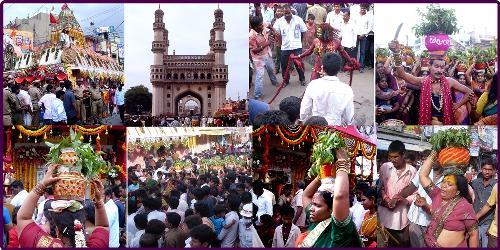 Bonalu festival - in Hyderabad - Bonalu isaan important festival in Hyderabad and Secunderabad in the month of Ashada (July-August).