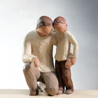 Father and Son - Father and son wood carving. A very wonderful piece of art.
