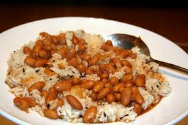 Rajma Chawal - Cooked rice with beans is known as rajma chawal.