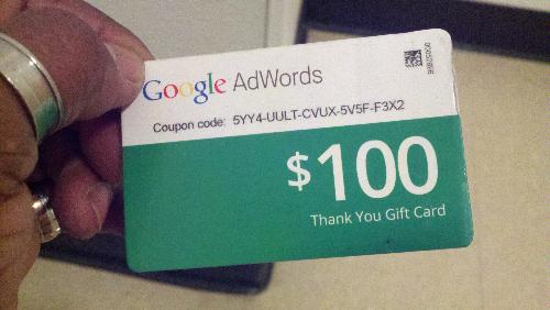 google gift card - Google ad words