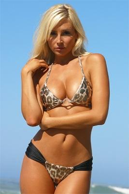 Bikini - A leopard print bikini.