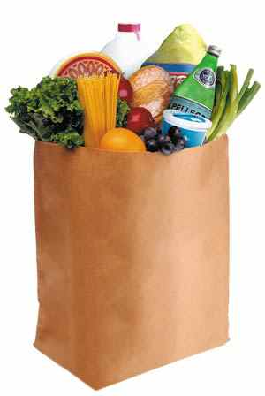 groceries - a grocery bag