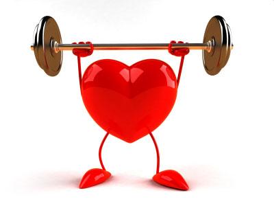 Heart Health - A heart weightlifting.
