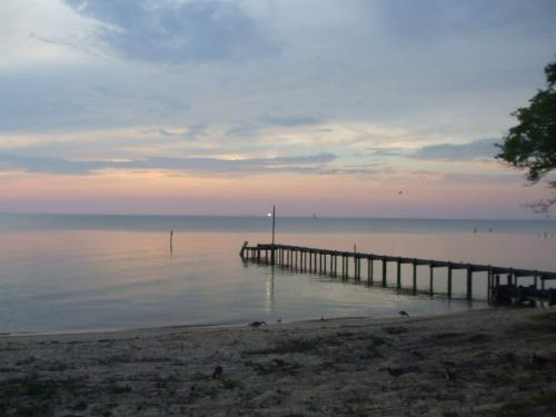 Sunset at Fairhope,Alabama - It was really a very pretty place to visit!