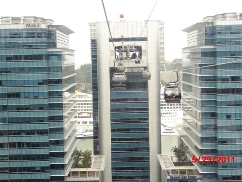 Cable Car - Cable car aerial view @ Sentosa, Singapore