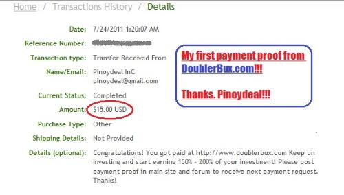 $15 in my Alertpay!!! Awesome!!! - I just got my first payout from Doublerbux, a paid to click site owned by a very generous Filipina. This is my payment proof. More to come!!! :)