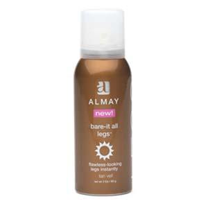 almay tanning veil - bottle of almay leg veil tanning spray