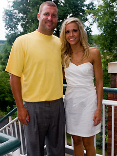 They were married - This Ben Roethlisberger the day before his wedding to his off and on girlfriend.