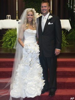 They got married - Last week saturday Ben Roethlisberger married a woman he said was an on and off girlfriend! I never heard of her until after the Super Bowl! Ben probaly just married her to improve his image!