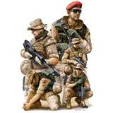 soldiers - soldiers will always risk their life in the battlefield.