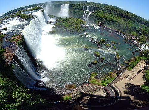 Iguazu falls - An aerial of Iguazu waterfall