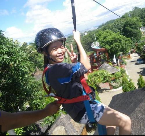 my first zipline - I wanted to experience zip-line so when we had a team building on Loreland at Antipolo I did it.  It was exhilarating and addicting! I wanted more!