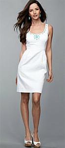 Summer dress - A cute white summer dress.