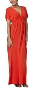 Long dress - A long orange dress that looks very comfortable!