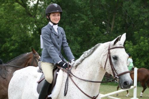 Annie and Korbell - My friend Annie riding her Polish Arab gelding Korbell.