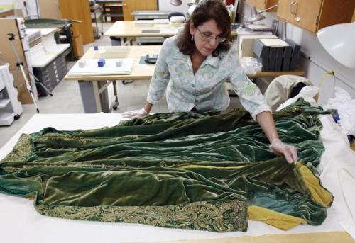 Gone with the Wind - One of the costumer worn in the movie Gone With The Wind. Hollywood is working on preserving the costumes.