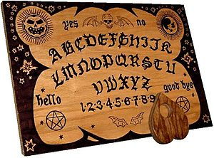 Ouija Board - This is an Ouija board which people used to communicate with spirits