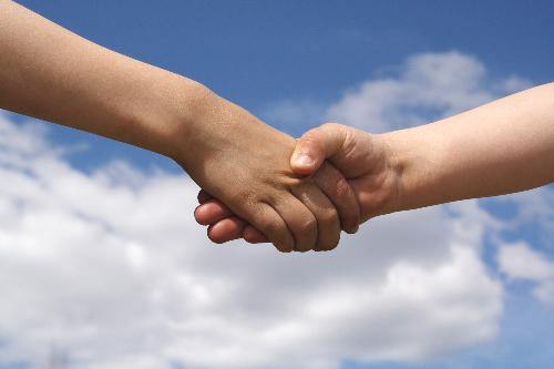 hand in hand - working together for happiness, love and peace