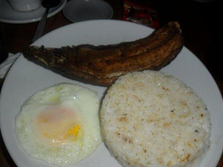 Breakfast favorite - Fried Rice, Dried Milkfish and Egg