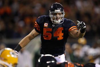 Brian Urlacher - The Chicago Bears linebacker. He is jealous the Bears don't have a field as Lambeau Field!