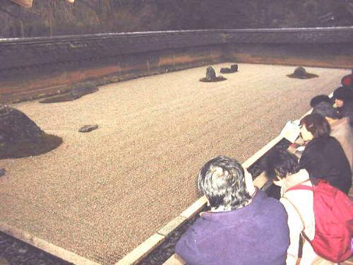 zen rock garden - zen rock garden from Ryoanji temple