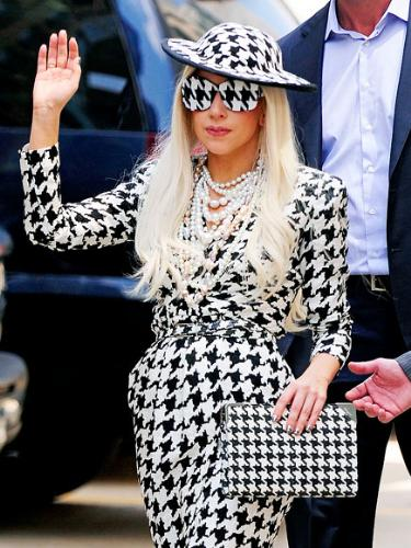 Lady Gaga - Not a bad outfit! Not outrageous either! I like it!