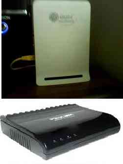 wimax and prolink modem - prolink is wired and mine.. wimax is from the renters and it's use an antenna / wireless
