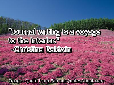 Journal Writing - Journey into the interior.
