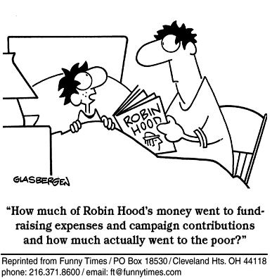Robin Hood? - Charitable expenses.