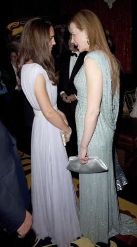 Kate and Nicole - The Duchess of Cambridge talking to Nicole Kidman when the kate and Prince William were in LA.