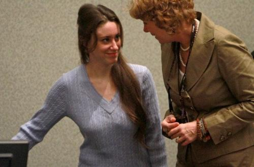Casey Anthony - Casey anthony being found not guilty of killing her daughter and talking to her lawyer.